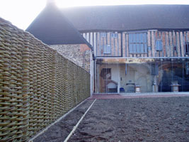Dragon Hall woven willow fence